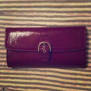 Coach Red Patent Wallet